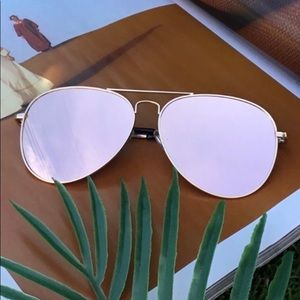 Accessories - Rose Gold Aviator Sunglasses